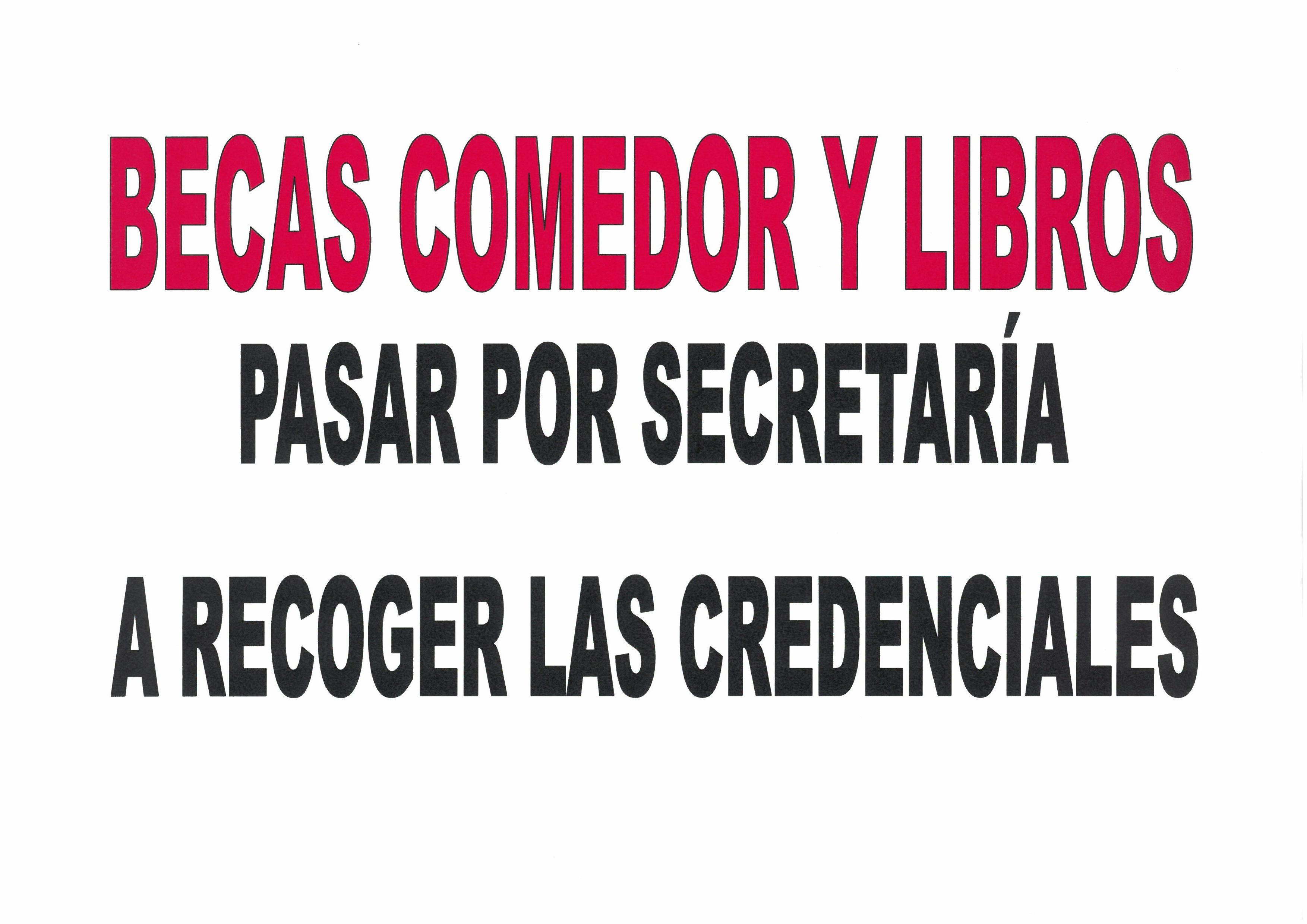 BECAS DE COMEDOR Y LIBROS - CEIP Las Fuentes